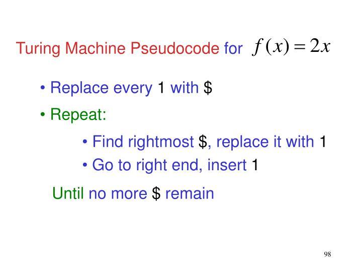 Turing Machine Pseudocode
