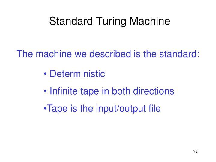 Standard Turing Machine