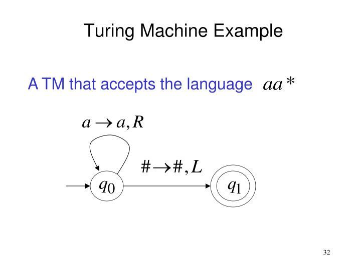A TM that accepts the language
