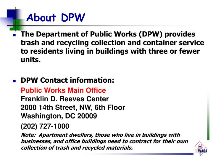 About DPW