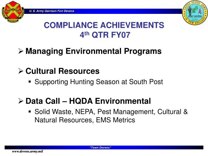 Managing Environmental Programs