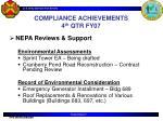 compliance achievements 4 th qtr fy072