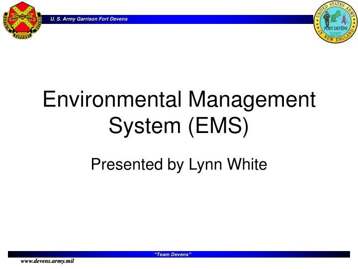 Environmental Management System (EMS)