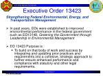 executive order 13423