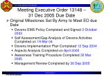 meeting executive order 13148 31 dec 2005 due date
