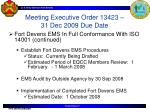 meeting executive order 13423 31 dec 2009 due date1