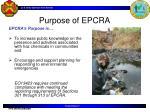 purpose of epcra