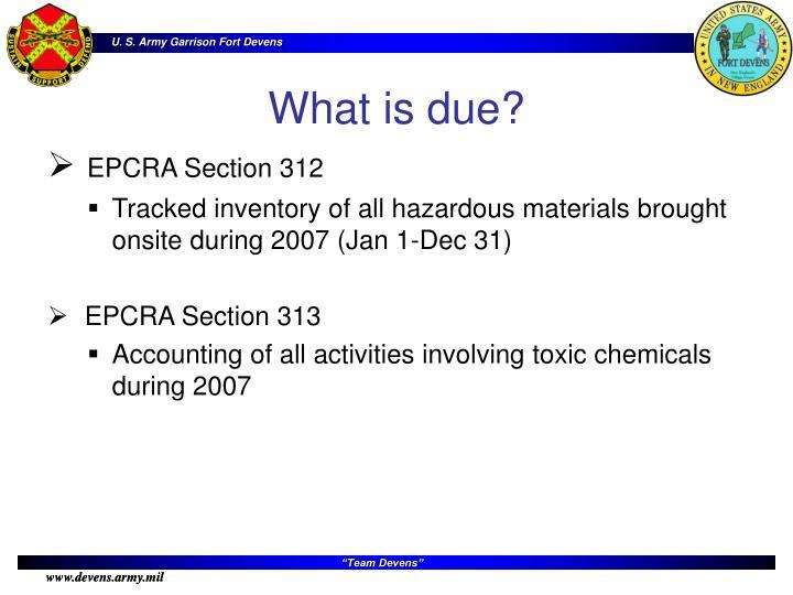 EPCRA Section 312