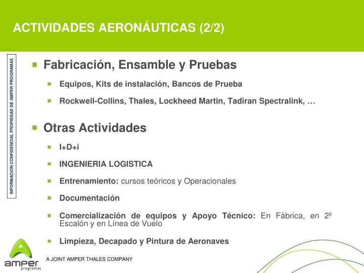 ACTIVIDADES AERONÁUTICAS (2/2)