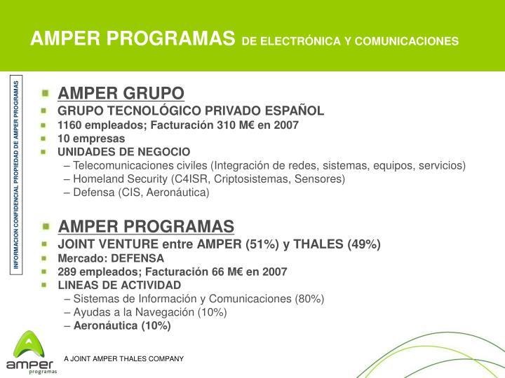 AMPER PROGRAMAS