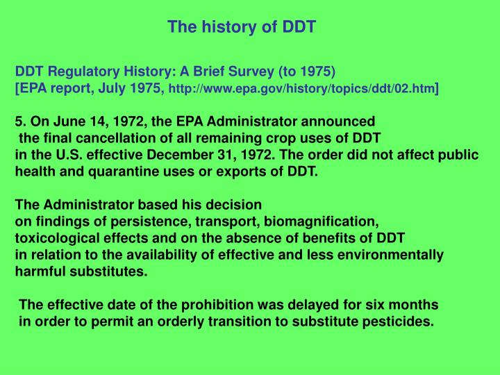 The history of DDT