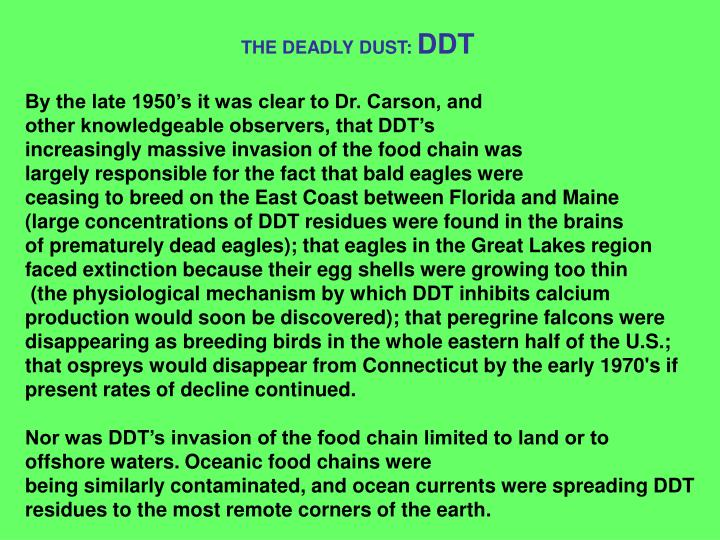 THE DEADLY DUST: