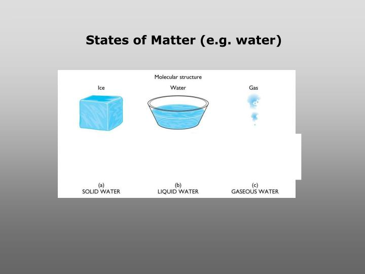 States of Matter (e.g. water)