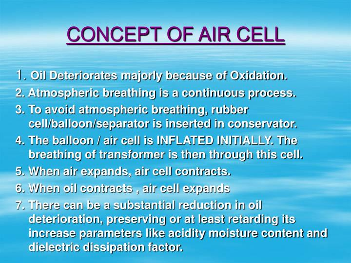 CONCEPT OF AIR CELL
