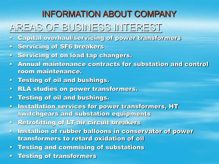 Information about company1