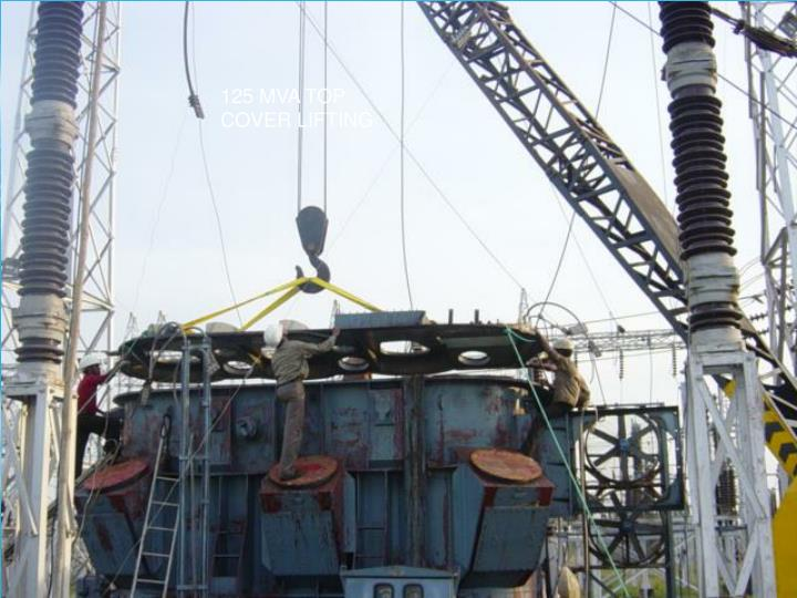 125 MVA TOP COVER LIFTING