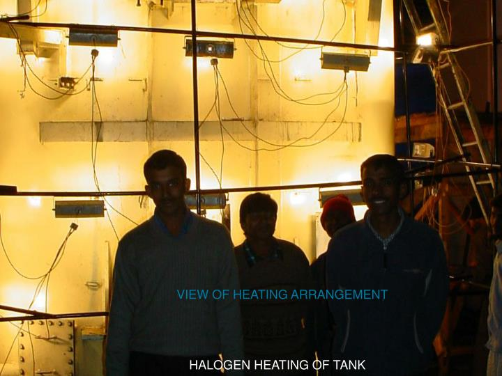 VIEW OF HEATING ARRANGEMENT