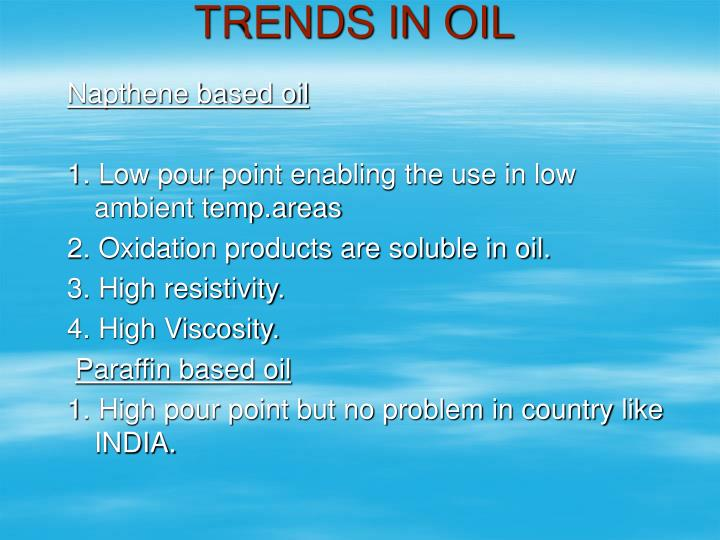 TRENDS IN OIL