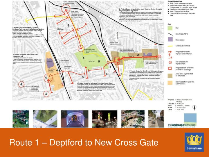 Route 1 – Deptford to New Cross Gate