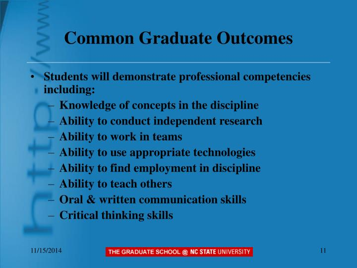 Common Graduate Outcomes