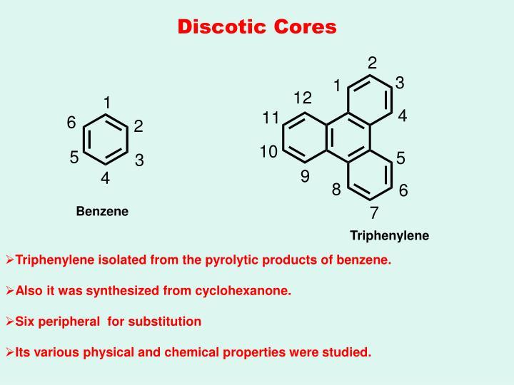 Discotic Cores