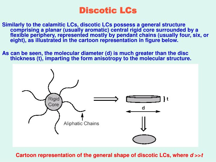 Discotic LCs