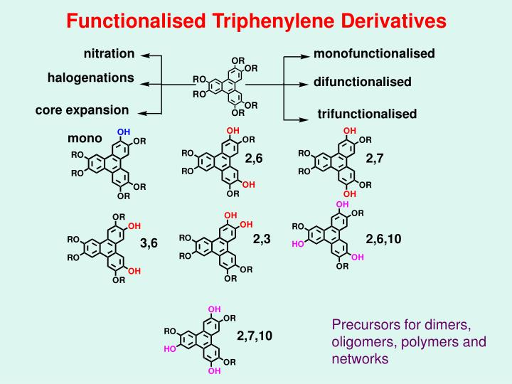 Functionalised Triphenylene Derivatives