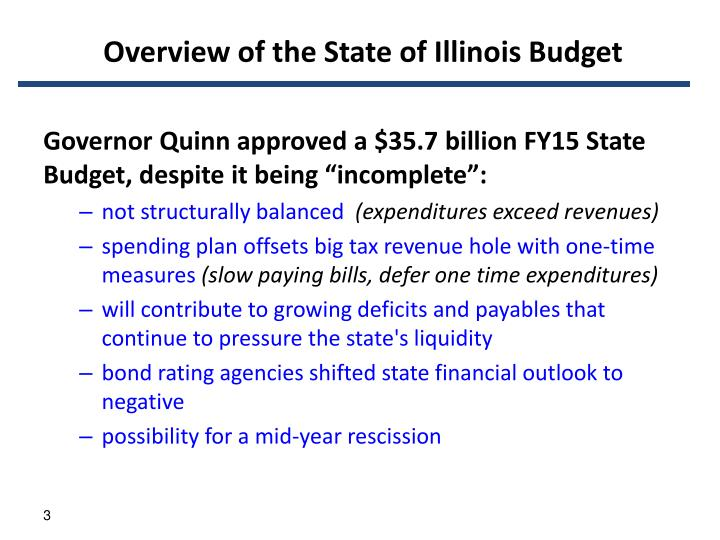 Overview of the state of illinois budget