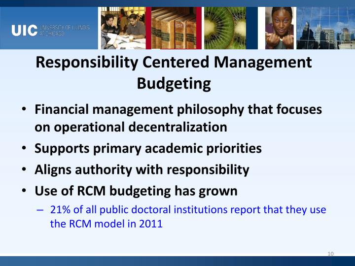 Responsibility Centered Management Budgeting