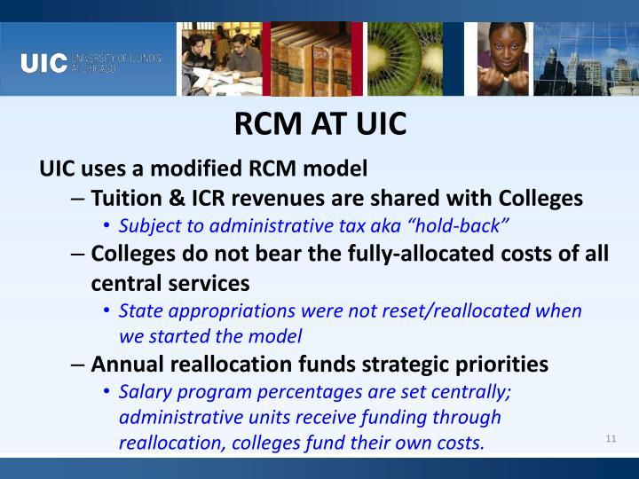 RCM AT UIC