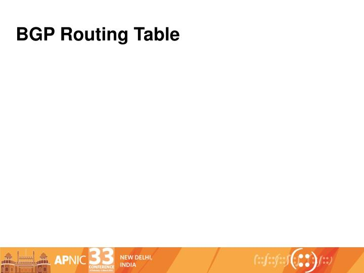 BGP Routing Table