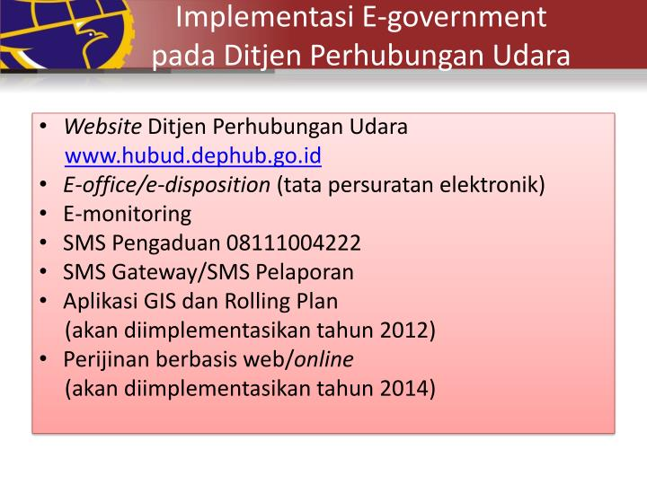 Implementasi E-government