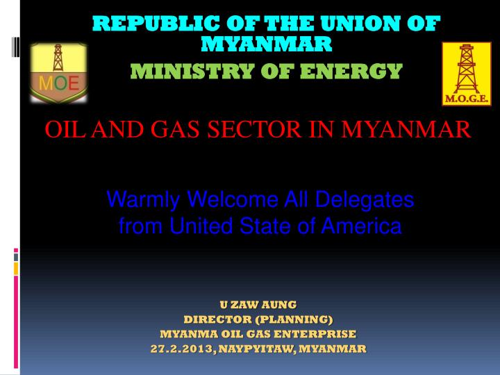 Republic of the union of myanmar