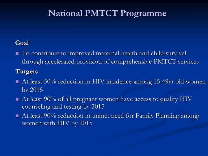 National PMTCT Programme