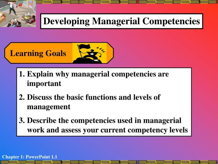 competency goals