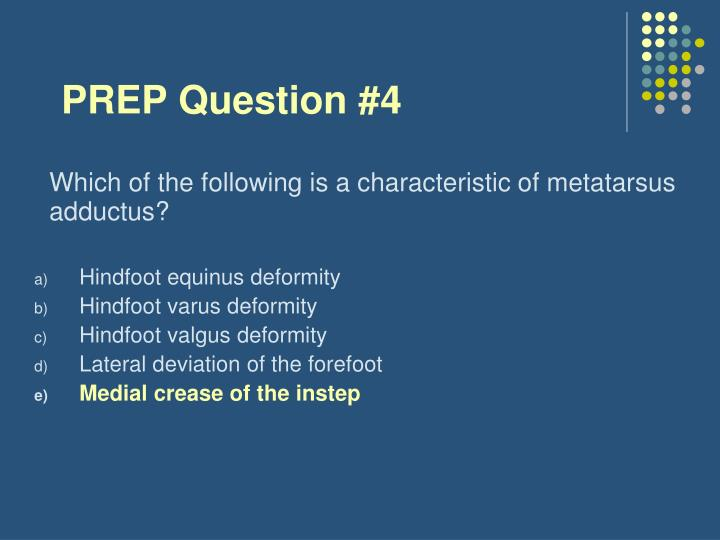 PREP Question #4