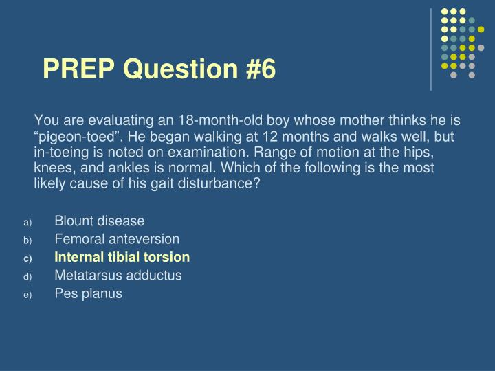 PREP Question #6