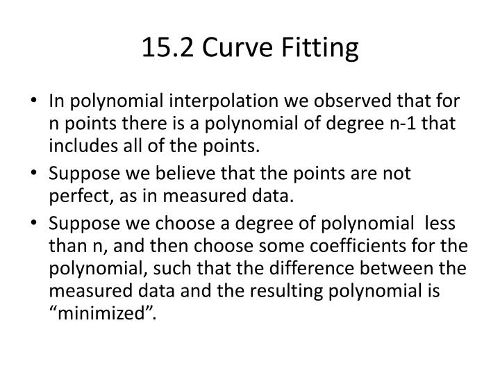 15.2 Curve Fitting
