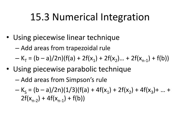 15.3 Numerical Integration