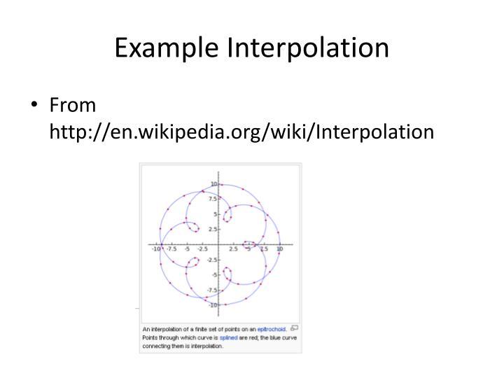 Example Interpolation