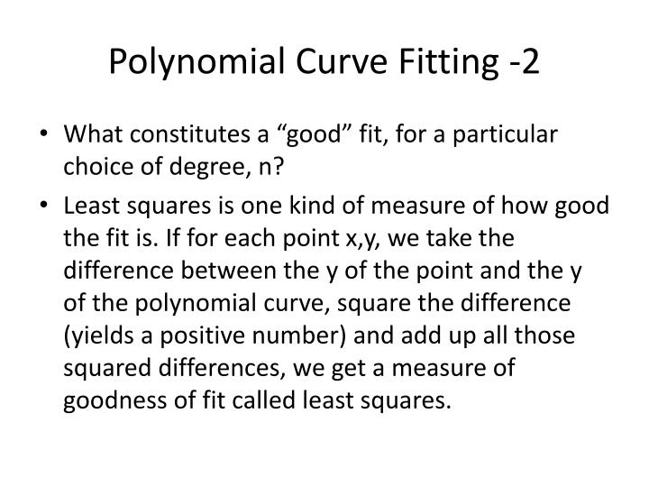 Polynomial Curve Fitting -2