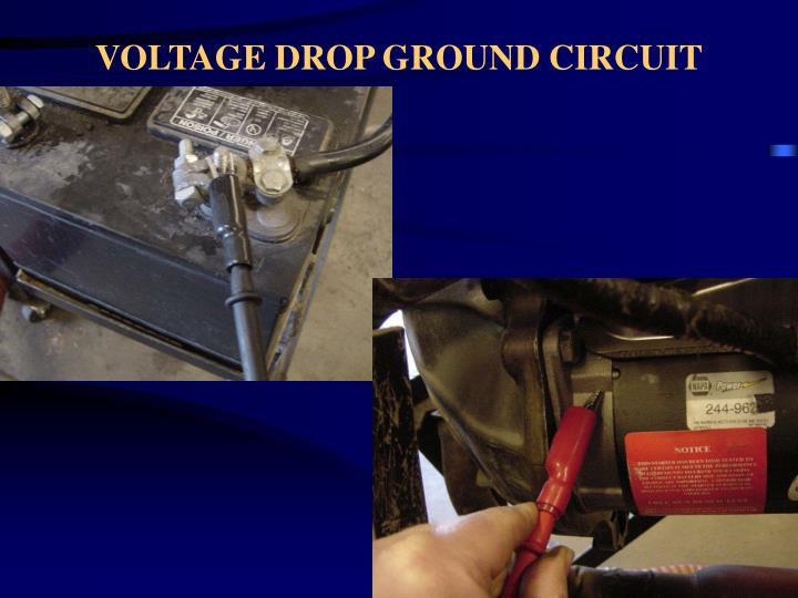 VOLTAGE DROP GROUND CIRCUIT
