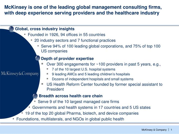Global, cross industry insights