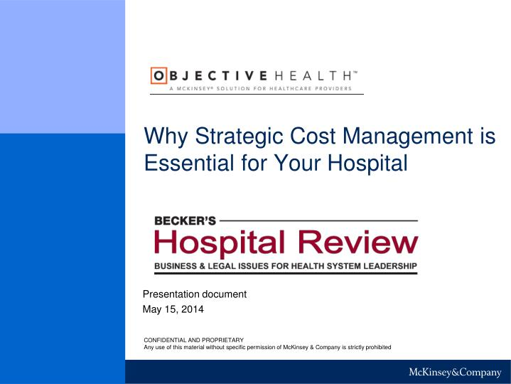 Why strategic cost management is essential for your hospital