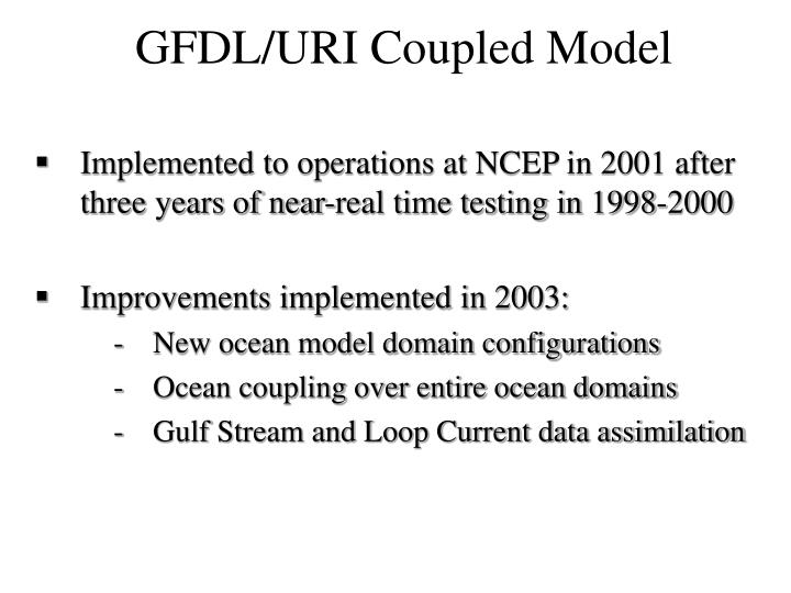 Implemented to operations at NCEP in 2001 after three years of near-real time testing in 1998-2000