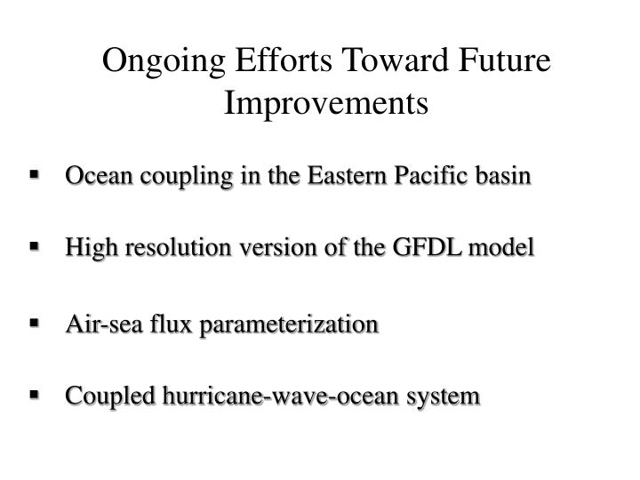 Ocean coupling in the Eastern Pacific basin
