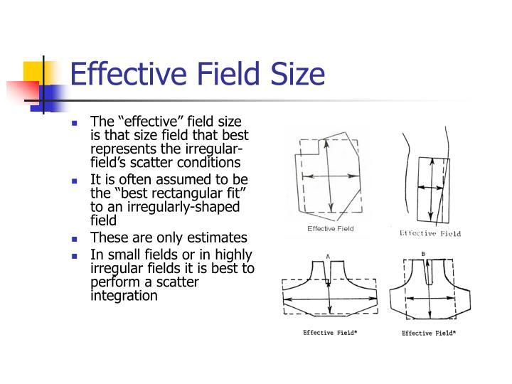 Effective Field Size
