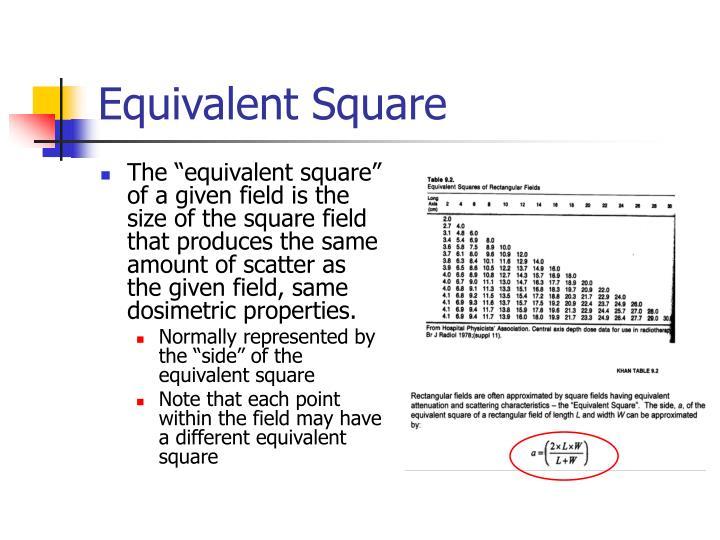 Equivalent Square