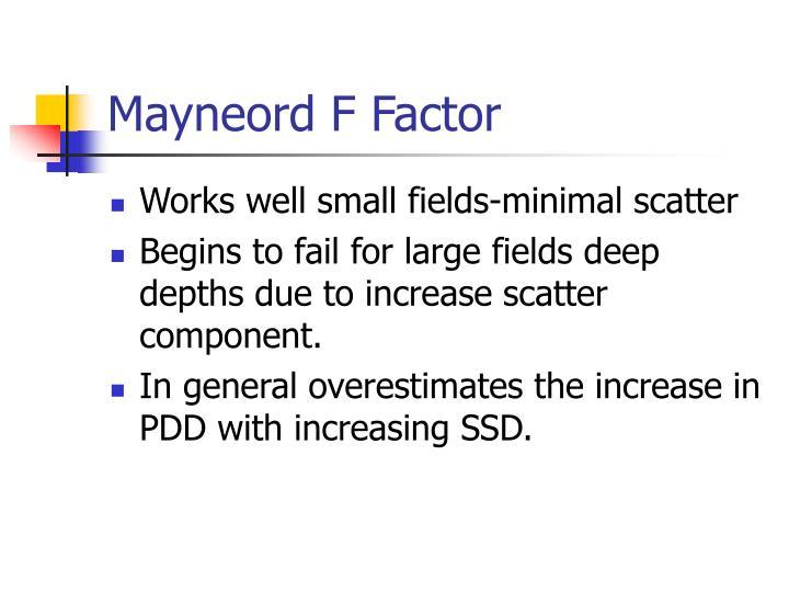 Mayneord F Factor