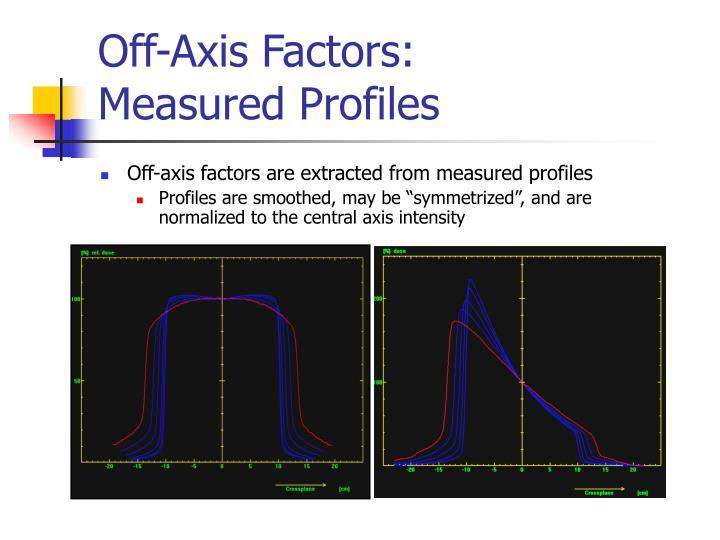 Off-Axis Factors: